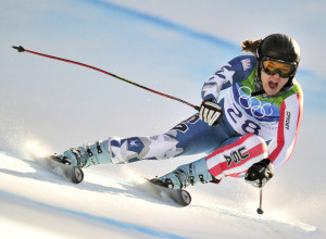 USA's Leanne Smith powers down the hill